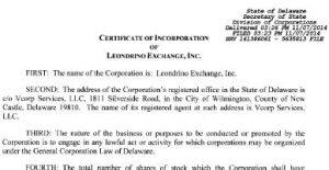 Spin-off Leondrino IP Into a Separate New Company