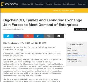 Strategische Partnerschaft für Enterprise-Lösungen basierend auf der Blockchain-Technologie