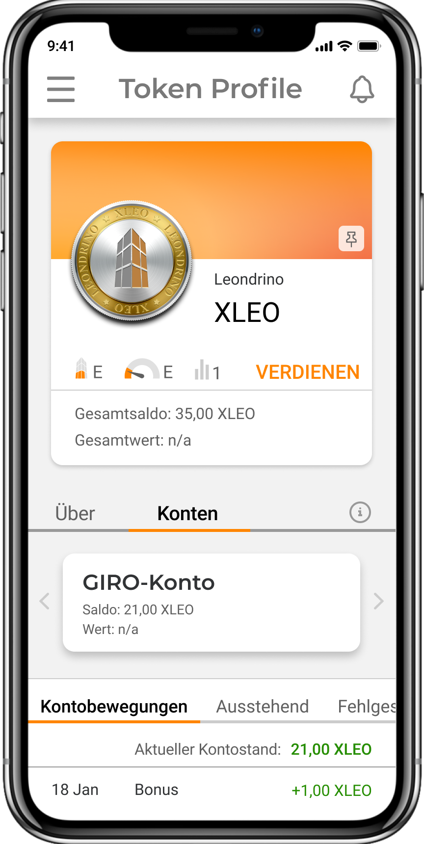 Token Profile DE