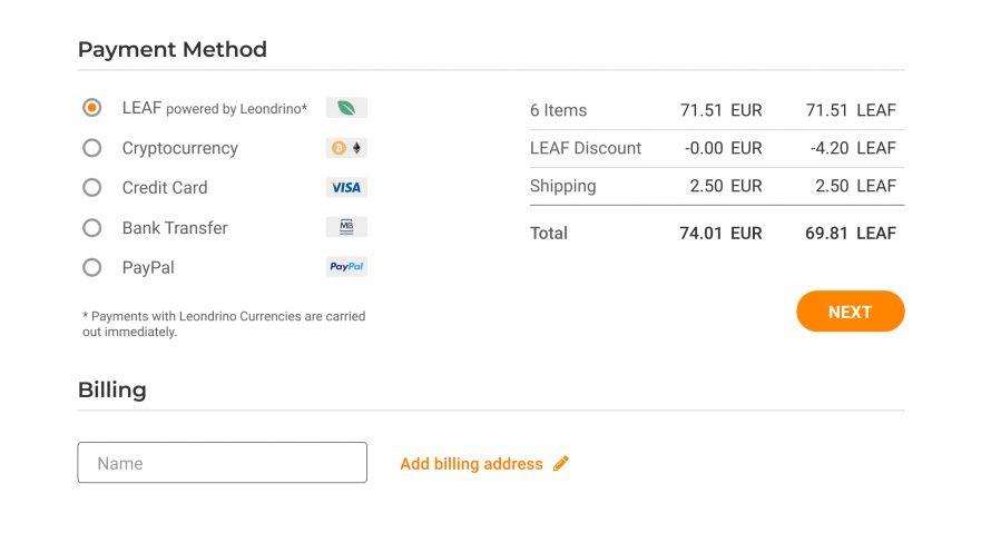 Token payment example EN